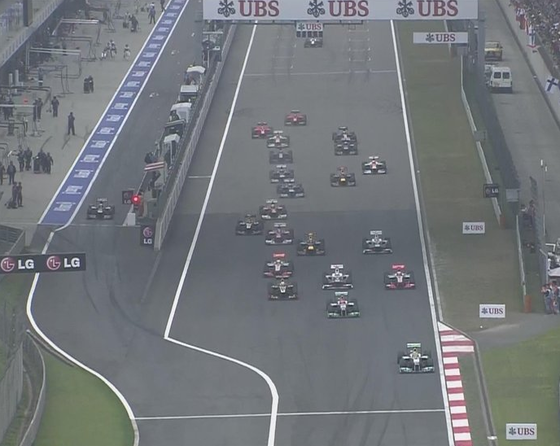 F1第3戦中国GP決勝 スタート