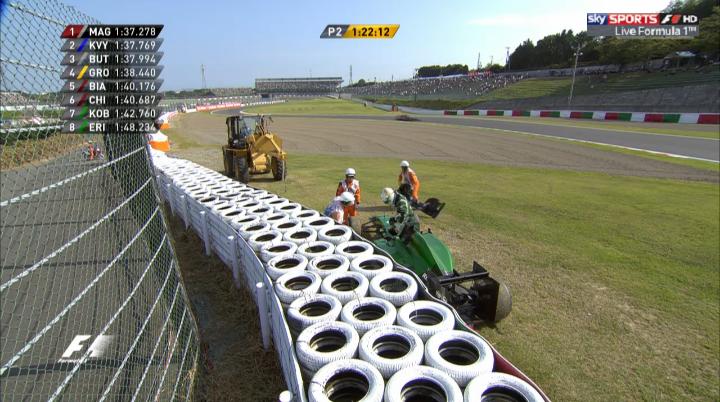 F1日本GP金曜フリー走行2回目 ルイス・ハミルトン1位
