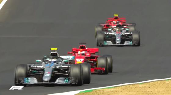 メルセデスとフェラーリ4台のバトル:2018年F1イギリスGP