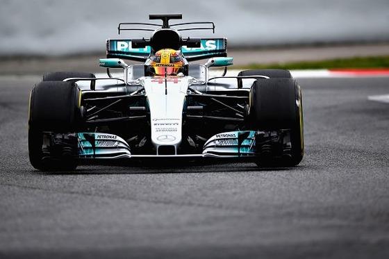 ルイス・ハミルトン(メルセデスF1 W08)F1テスト
