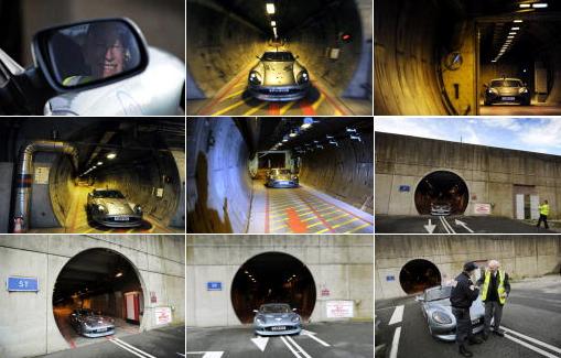 ジョン・サーティース、電気自動車で英仏海峡トンネルをドライブ