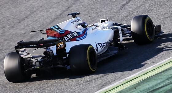 ウィリアムズFW40、バルセロナF1テスト2017年3月
