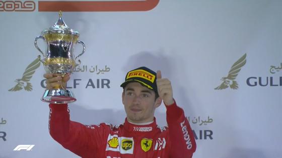 シャルル・ルクレール:2019年F1バーレーンGP表彰式