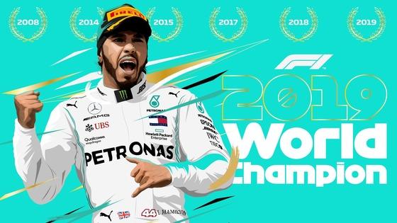 ルイス・ハミルトンのF1タイトル獲得年は2008年、2014年、2015年、2017年、2018年、2019年