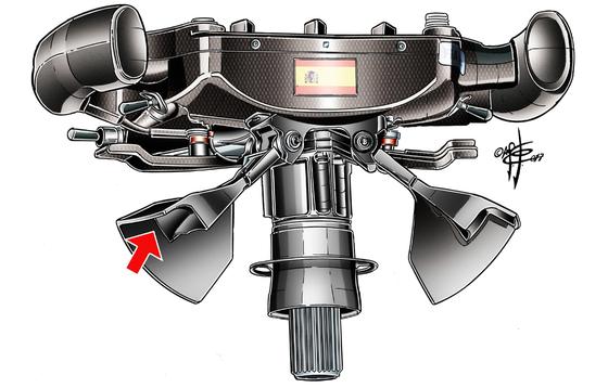 マクラーレン・ホンダMCL32:アロンソの人間工学的クラッチ・パドル