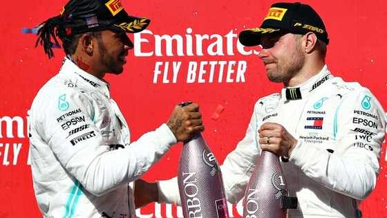 ルイス・ハミルトンとヴァルテリ・ボタス:2019年F1アメリカGP
