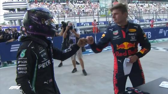 マックス・フェルスタッペンとルイス・ハミルトン、予選を終えて:2020年F1ロシアGP