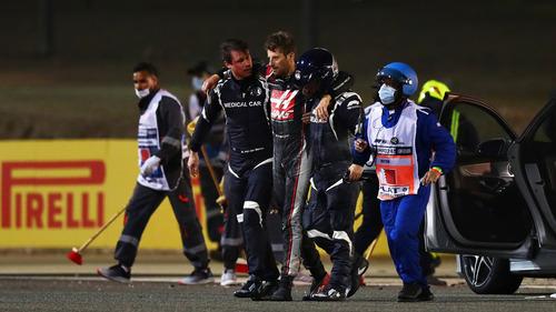 グロージャンの左足、レーシング・ブーツがない!:2020年F1バーレーンGP