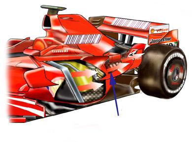 フェラーリF2007:冷却装置の詳...