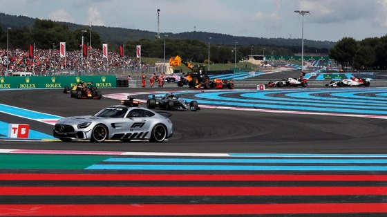 2018年F1フランスGPセーフティカー先導中