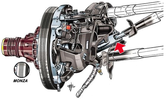 フェラーリSF70H:フロント・サスペンション