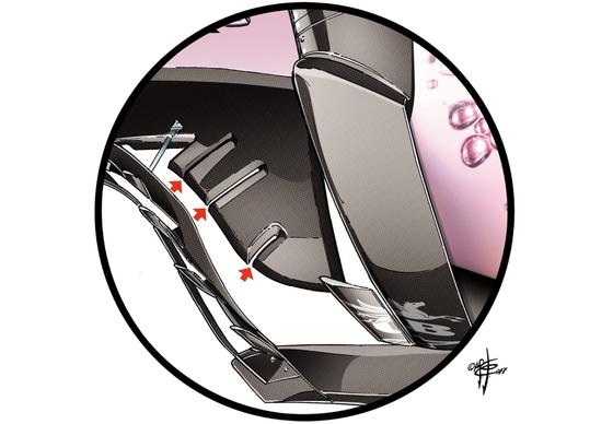 フォース・インディアVJM10:新しいバージボード
