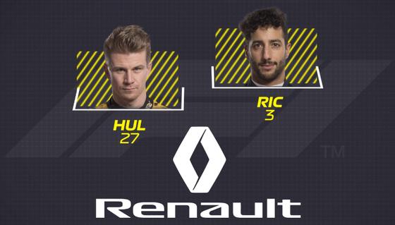ルノー:3 ダニエル・リチャルド、27 ニコ・ヒュルケンベルグ