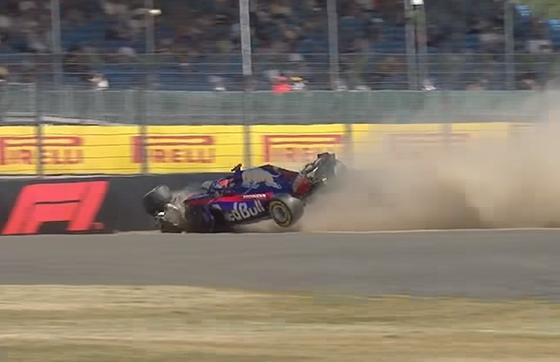 ブレンドン・ハートレイ、クラッシュ:2018年F1イギリスGP