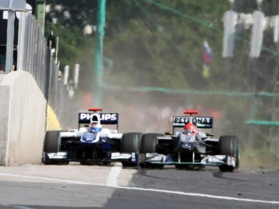 ルーベンス・バリチェロ、ミハエル・シューマッハ、2010年F1ハンガリーGP