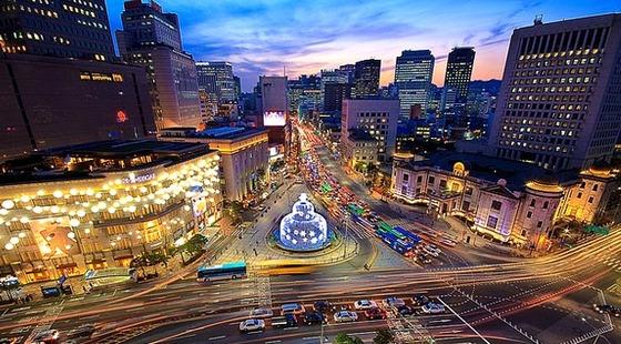 韓国・ソウルの夜写真