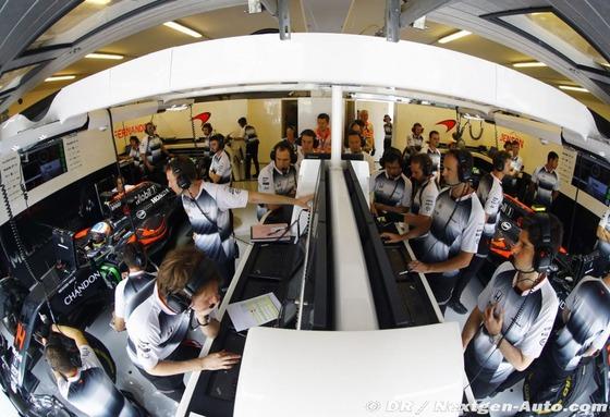 マクラーレン・ホンダのガレージ: F1ハンガリーGP