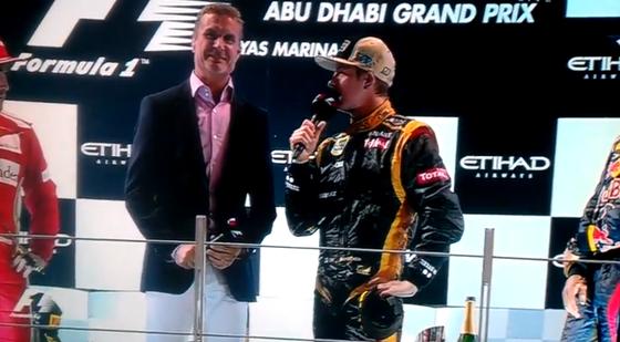 デイヴィッド・クルサード、キミ・ライコネン、2012年F1アブダビGP