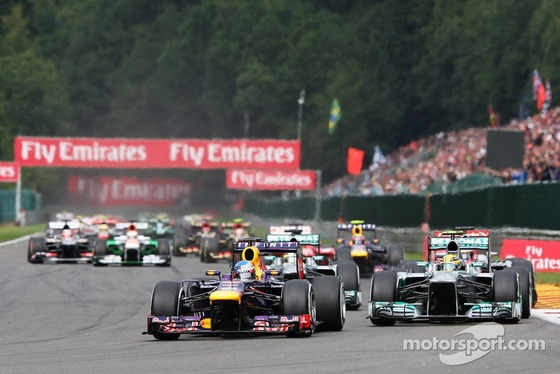 2013年F1ベルギーGP スタート