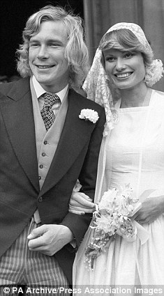 ジェイムズ・ハントとスージー・ミラーの結婚式