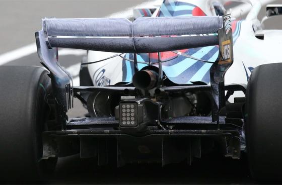 ウィリアムズFW41のリア・ウィングに使われたフロービズ - 2018年アゼルバイジャンGP