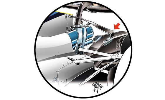 ウィリアムズFW40:リア・ディフューザー効率改善ウィング