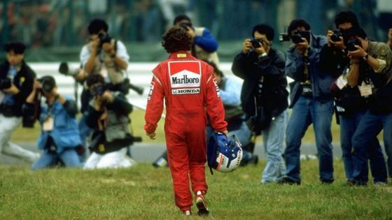 アラン・プロスト、アイルトン・セナと接触してリタイヤ:1990年F1日本GP