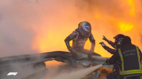 ロマン・グロージャン、炎からの脱出:2020年F1バーレーンGP