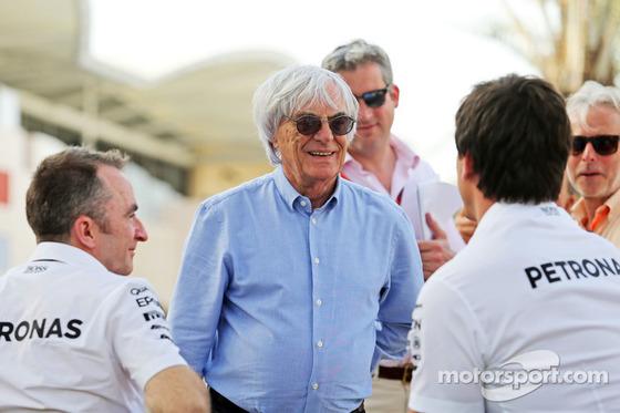 バーニー・エクレストン、トト・ヴォルフ、パディ・ロウ、2015年F1バーレーンGP
