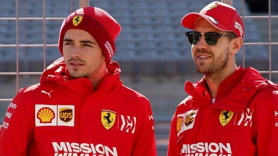 シャルル・ルクレールとセバスチャン・ベッテル(フェラーリ)