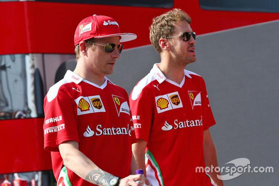 キミ・ライコネンとセバスチャン・ベッテル(フェラーリ): F1ハンガリーGP