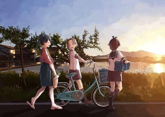 【2次】朝焼け空、夕焼け空が綺麗な二次画像 その3【非エロ】