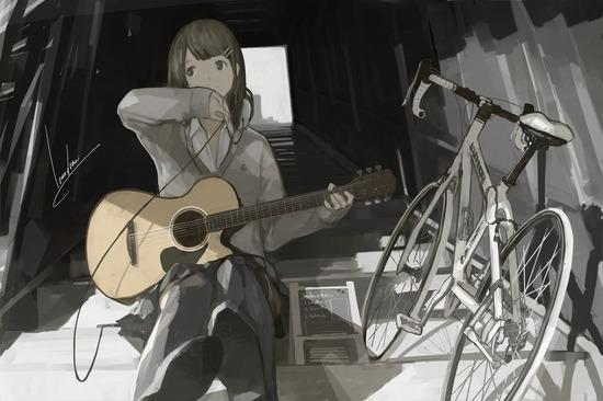 【2次】楽器を持った可愛い女の子の二次画像【非エロ】