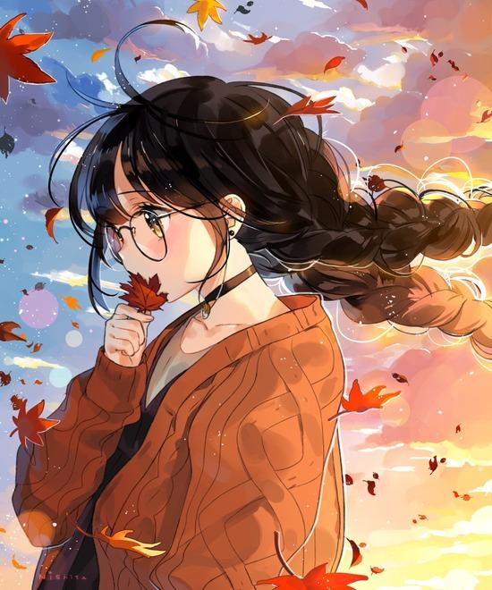 【2次】秋らしさを感じる美少女二次画像【非エロ】