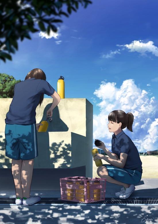【2次】青空が清々しくて綺麗な二次画像 その4【非エロ】