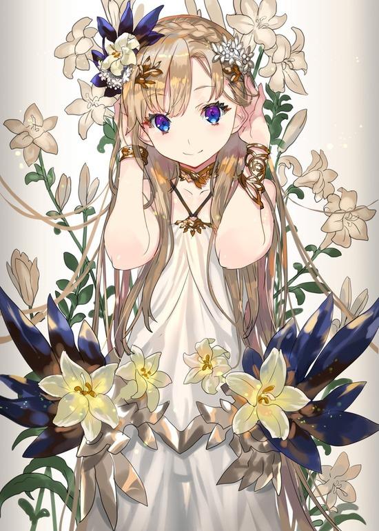 【2次】花と一緒に描かれている可愛い女の子の二次画像 その6【非エロ】