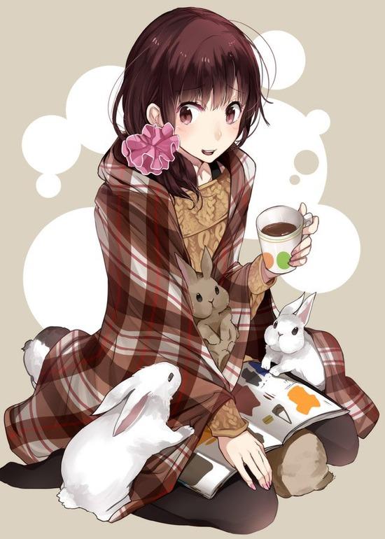 【2次】動物と戯れてる可愛い女の子の二次画像【非18禁】