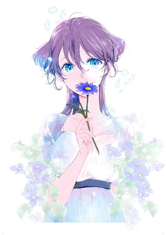 【2次】花と一緒に描かれている可愛い女の子の二次画像 その4【非エロ】