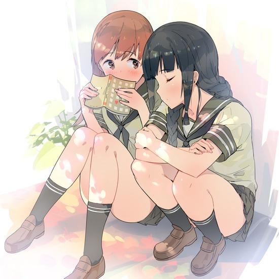 【2次】女の子二人でいちゃいちゃしちゃってる二次画像 その9【百合・レズ】