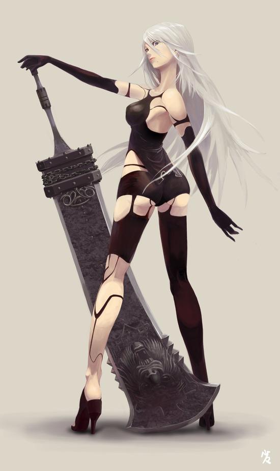 【2次】剣や刀などを持った凛々しい女の子の二次画像 その3【非エロ】