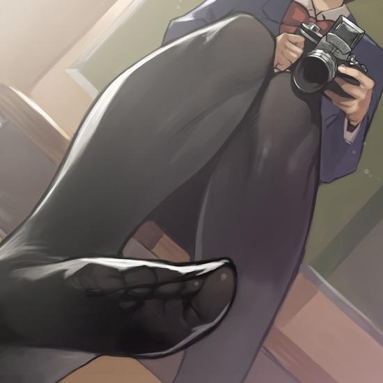 【2次】美脚が強調されるストッキング姿の美少女二次エロ画像 その18【ストッキング】