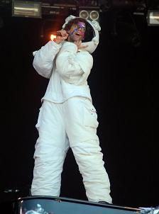 MIKA in Astronaut Costume。