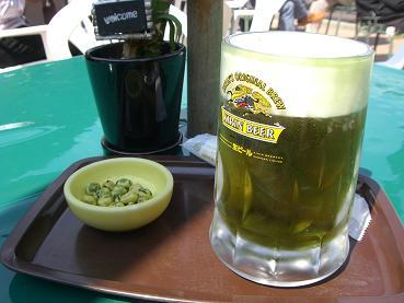 わさびビール1杯。