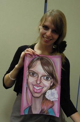 可愛い外人の女の子の似顔絵