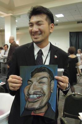 谷純一さんの上手い似顔絵