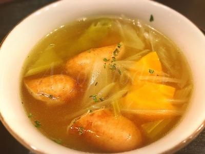 ソーセージとキャベツのスープ