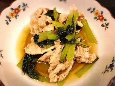 豚しゃぶの小松菜煮
