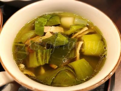 ねぎとチンゲンサイのスープ