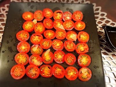プチトマトのカルパッチョ