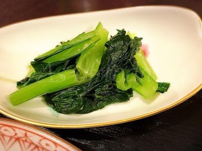 小松菜のわさび風味おひたし